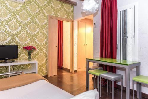 Télévision ou salle de divertissement dans l'établissement Apartaments Ciutat Vella