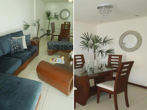 A seating area at Apartamento Equipetrol