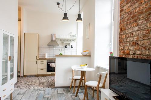Kuchyňa alebo kuchynka v ubytovaní Šafranová záhrada