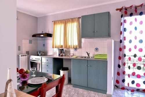 A kitchen or kitchenette at Aeolos Studios Kefalonia