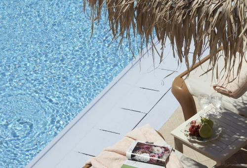 A view of the pool at Apsenti couples only - Mykonos or nearby