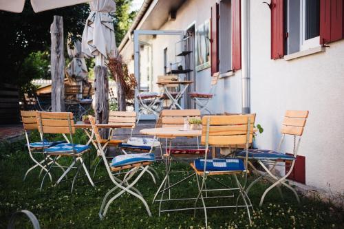 Ein Patio oder anderer Außenbereich in der Unterkunft Schwäbisches Caféhaus Alte Kass