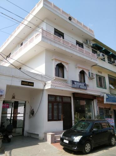 The facade or entrance of Madhav Guest House