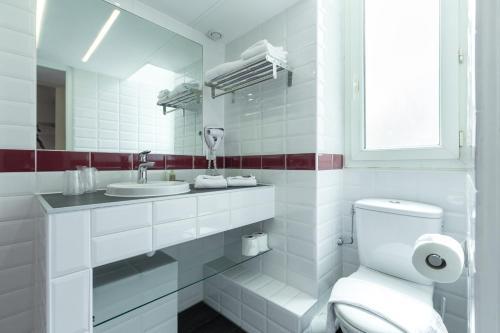 Salle de bains dans l'établissement Nice Appart
