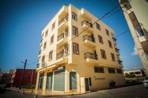 Bygningen som lejlighedshotellet ligger i