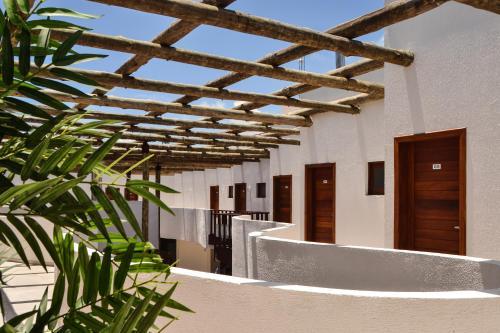 O saguão ou recepção de Vila da Pipa Suítes