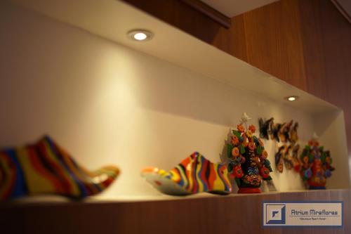 The lobby or reception area at Atrium Miraflores Hotel
