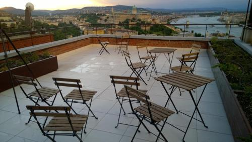 A patio or other outdoor area at View of Budapest