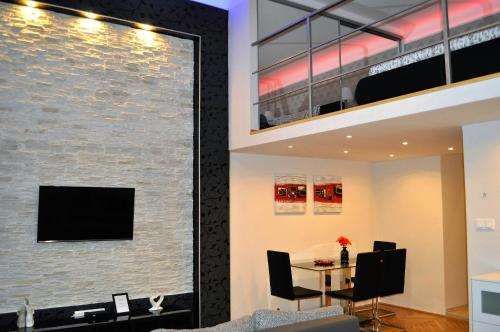 The lounge or bar area at Welcome Budapest Apartments