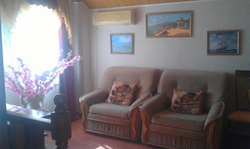 Гостиная зона в Guest house rjadom s sanatoriem Djulber