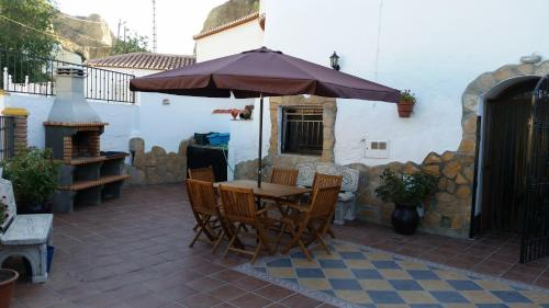 A porch or other outdoor area at Cuevas de María