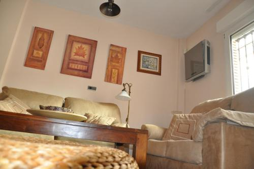 Lounge oder Bar in der Unterkunft Casa del Laurel