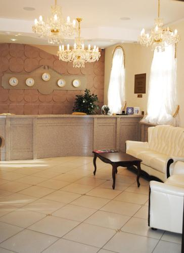 The lobby or reception area at Gubernsky Hotel