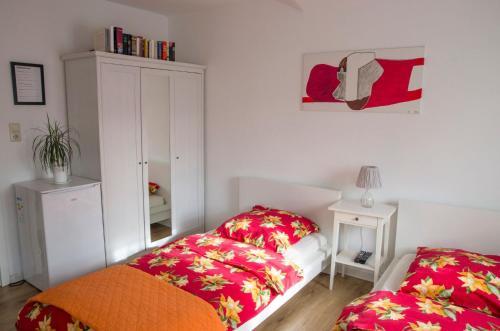 Ein Bett oder Betten in einem Zimmer der Unterkunft Tasca im Feui Apartments