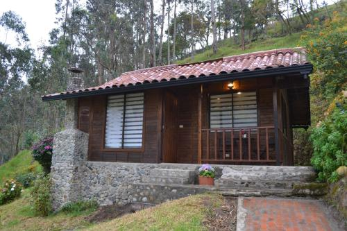 A porch or other outdoor area at Cabañas Truchas Cocora