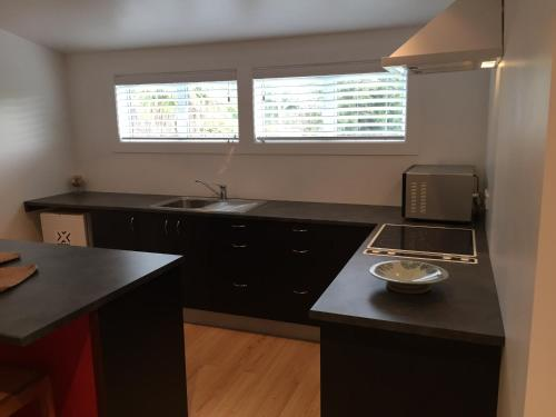 A kitchen or kitchenette at Apartment retreat Warkworth