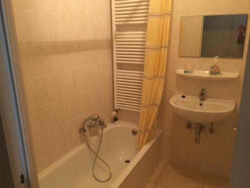 A bathroom at Appaanzee De Panne