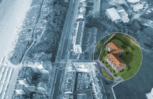 Een luchtfoto van Royal Gardens