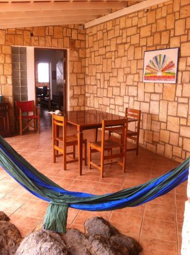 The lounge or bar area at Fado Crioula