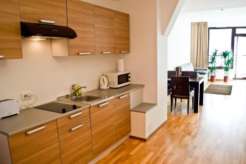 A kitchen or kitchenette at Pirita Sea View Apartments