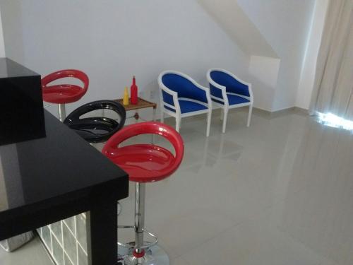A seating area at Apartamento Telégrafo