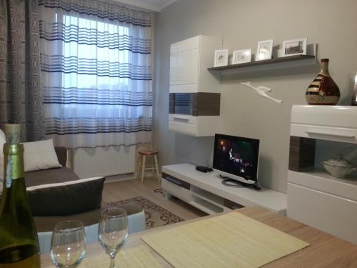 The lounge or bar area at Apartament w Głogowie