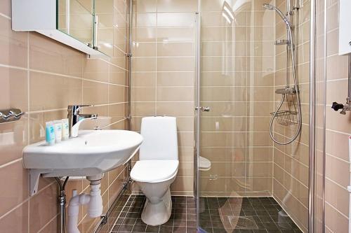 Ett badrum på Apartments VR40
