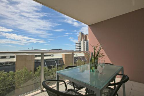 A porch or other outdoor area at Adelaide DressCircle Apartments - North Terrace