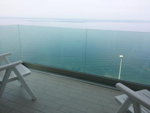 A balcony or terrace at Holiday Lux