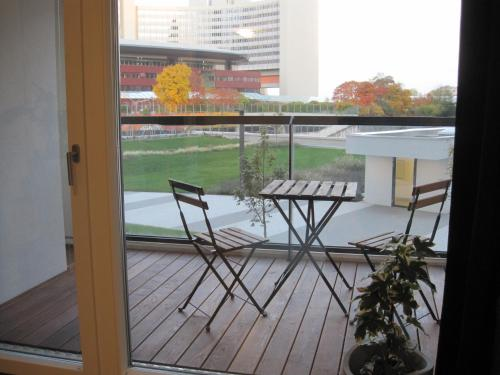 Een balkon of terras bij Vienna DC Living Apartment with parking on premise