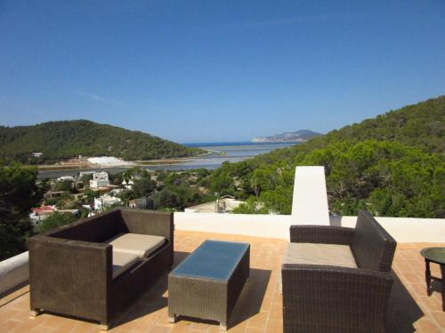 A porch or other outdoor area at Modern House near beach in Ses Salines Spain