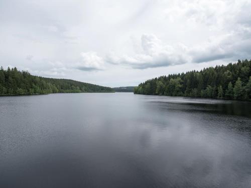 Ein Blick auf einen See in der Nähe der Ferienwohnung