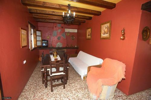 A seating area at Casa del Huerto