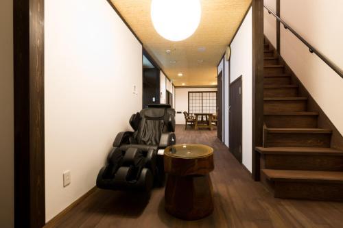 A seating area at Kyotoya Tsuki no Yu Bettei