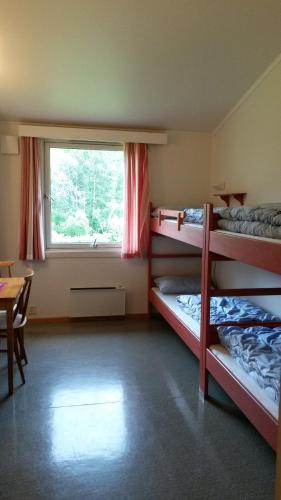 A bunk bed or bunk beds in a room at HI Borlaug Vandrerhjem