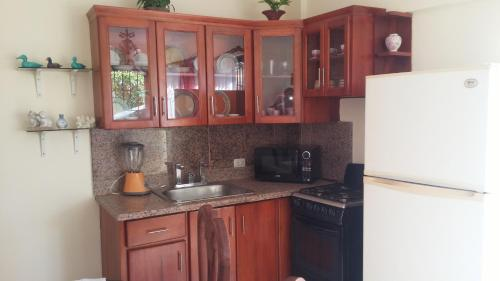 A kitchen or kitchenette at J & D Atlantidad