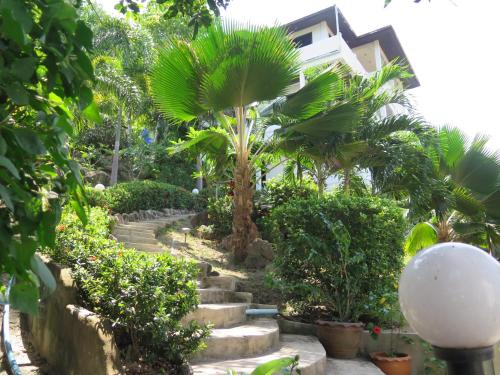 A garden outside Viking House Villa