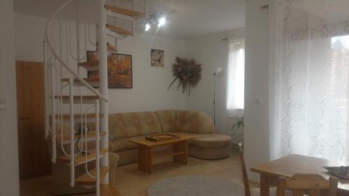 Posezení v ubytování Apartment Lipno