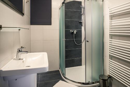 Koupelna v ubytování Residence Lipno