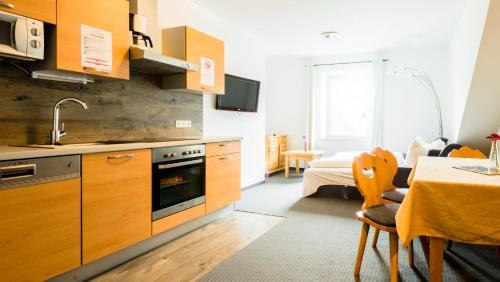 Virtuvė arba virtuvėlė apgyvendinimo įstaigoje Cityhouse Apartments Schladming