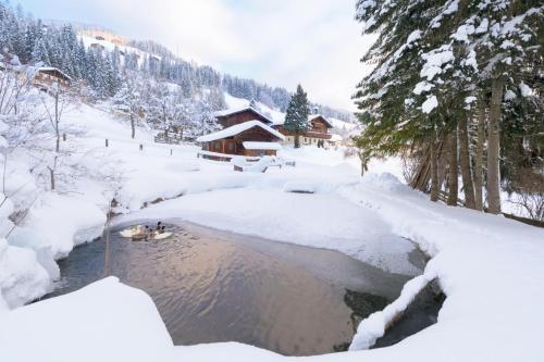 Bauernhof Auhof during the winter