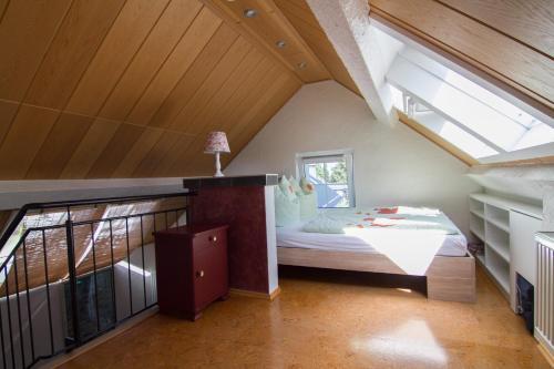 Ein Bett oder Betten in einem Zimmer der Unterkunft Ferienhaus Wildblick