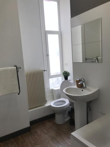 Salle de bains dans l'établissement Les Loc' du Martroi