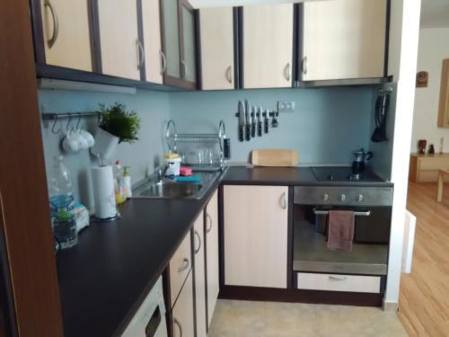 Кухня или кухненски бокс в Гери Апартамент