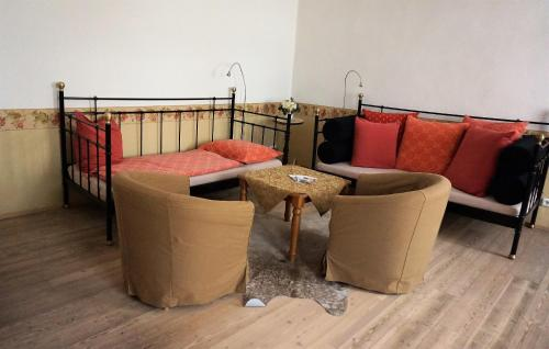 A seating area at Melkerhof Appartements