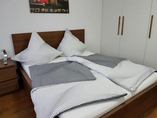 Ein Bett oder Betten in einem Zimmer der Unterkunft Holiday Apartment Schamne