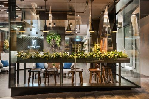 A restaurant or other place to eat at District South Yarra
