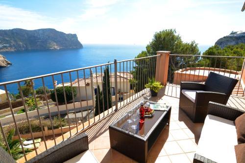 A balcony or terrace at Sea Views Villa with Pool Port Andratx