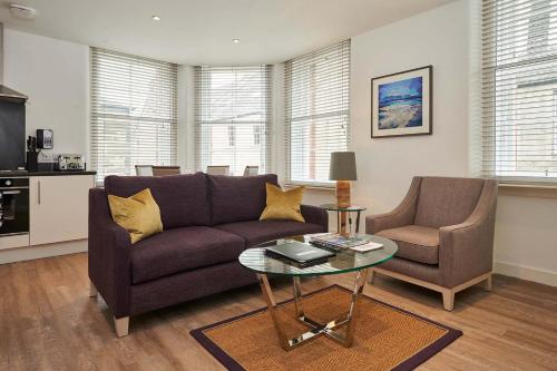 A seating area at Braid Apartments by Mansley