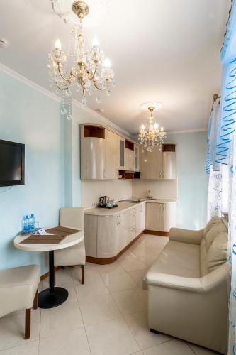 Кухня или мини-кухня в Принцесса Элиза Отель